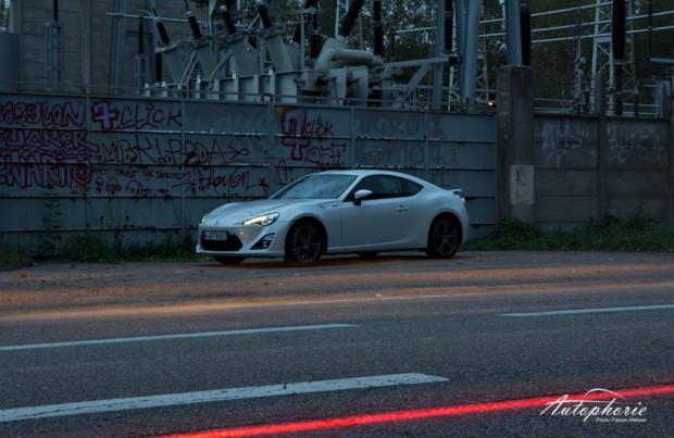 Toyota GT86 Nachts in Straßbourg