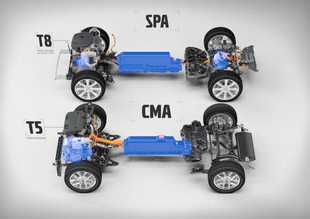 Volvo CMA Plattform Hybrid