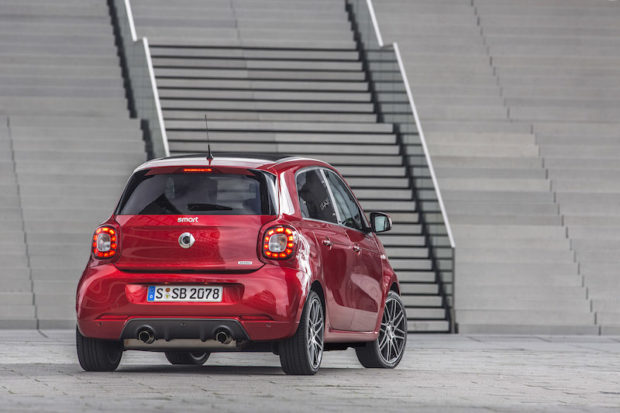 smart BRABUS forfour Heck