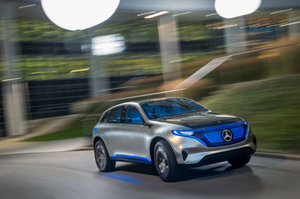 Mercedes Generation EQ Elektro SUV Front