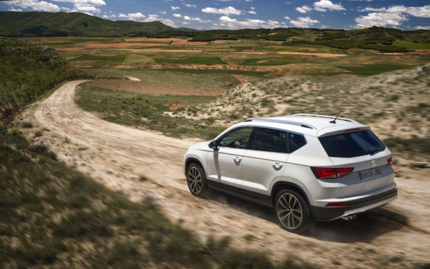 Seat Ateca Weiss Heck