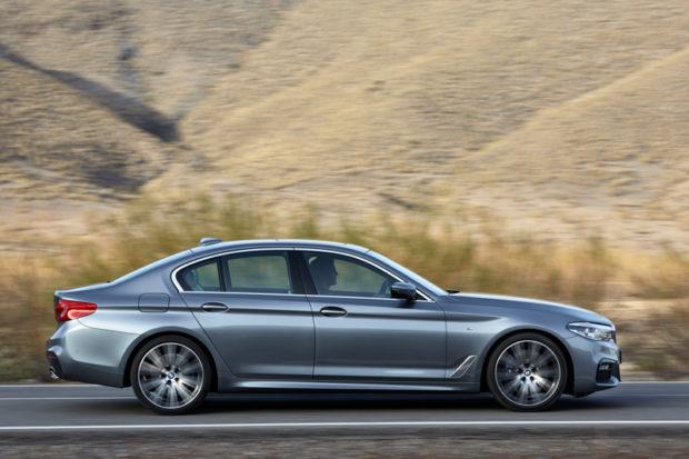 Neuer BMW 5er G30 Limousine Seitenlinie