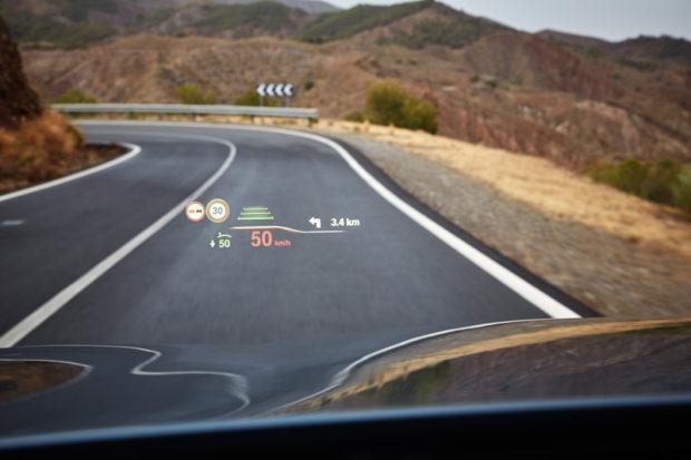 Neuer BMW 5er Head-up Display
