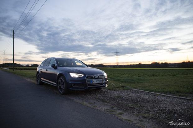 Audi A4 Avant B9 nachts
