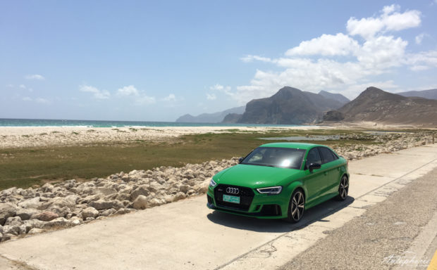 Audi RS3 Limousine Vipergreen Front