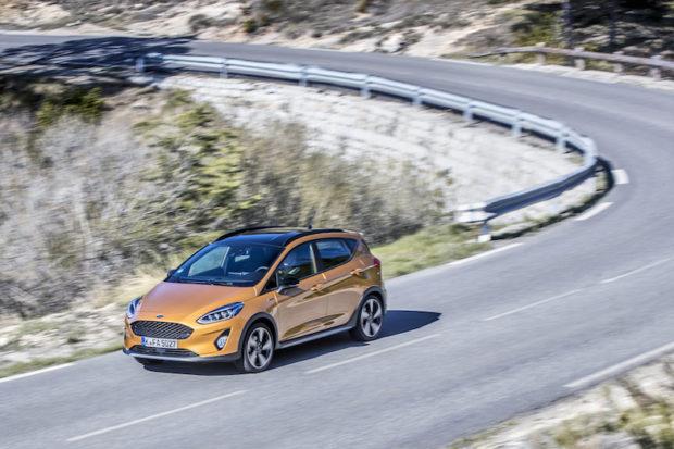 Ford Fiesta Active Draufsicht