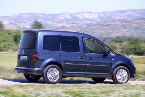 VW Caddy TGI Heck