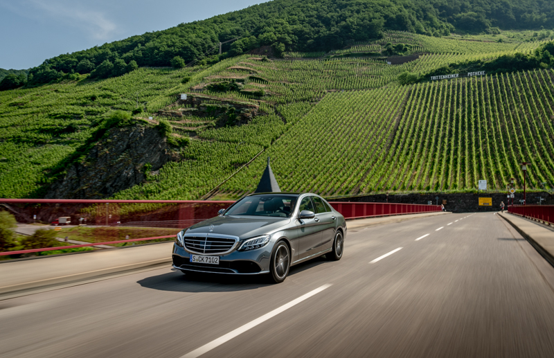 Erste Fahrt In Der Mercedes Benz C Klasse Modellpflege 2018