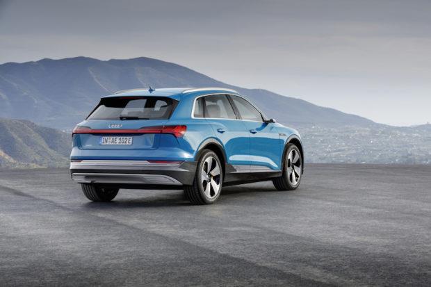 Audi e-tron Antigua blue