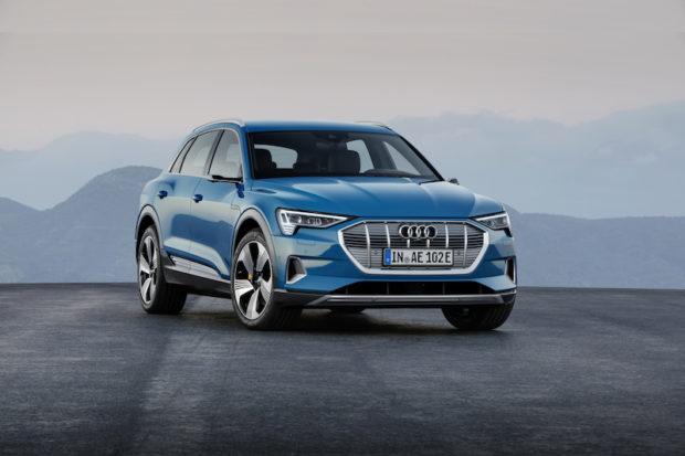 2019 Audi e-tron Antigua blue