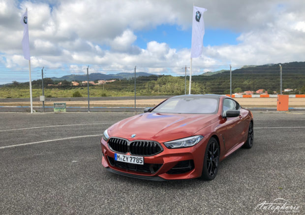 BMW M850i xDrive Coupé Sunset Orange Front