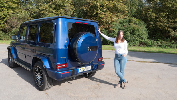 Mercedes-Benz G 500 designo mysticblau bright Test