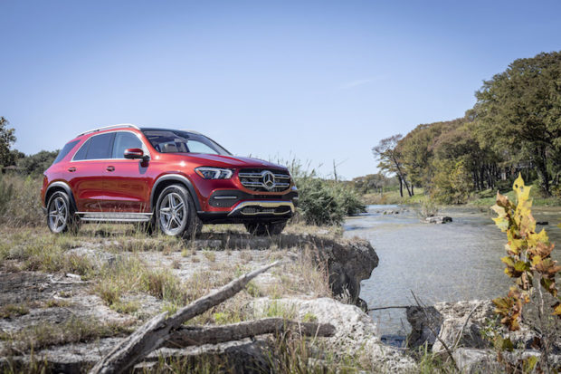 Mercedes-Benz GLE 450 4MATIC hyazinthrot metallic Off Road