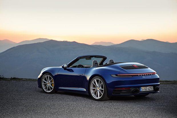 Porsche 911 Cabriolet 992 Heckansicht