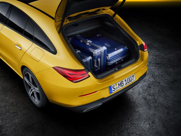 2019 Mercedes-Benz CLA Shooting Brake X118 Sonnengelb Kofferraum