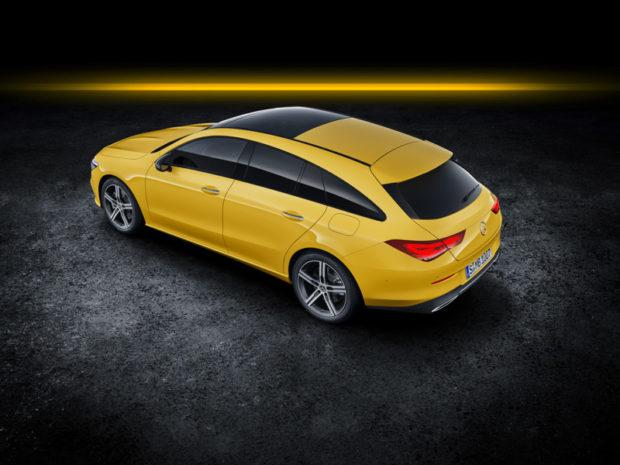 2019 Mercedes-Benz CLA Shooting Brake X118 Sonnengelb Draufsicht