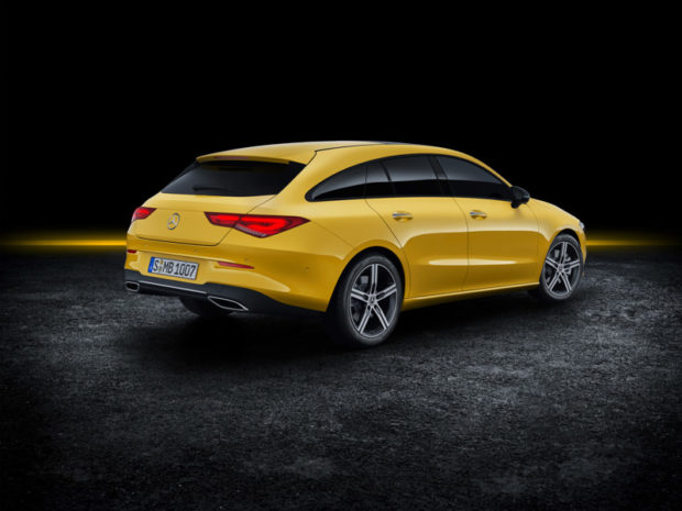 2019 Mercedes-Benz CLA Shooting Brake X118 Sonnengelb Heck