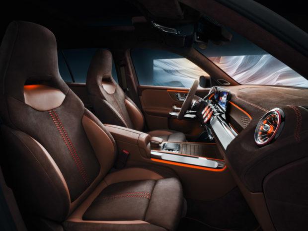 Mercedes-Benz Concept GLB Nubukleder
