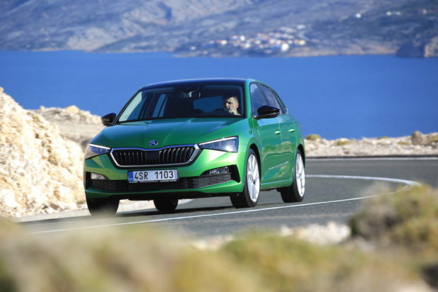 Skoda Scala Rally Green