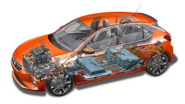 Elektro Corsa technische Zeichnung