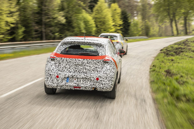 Opel Corsa F Prototyp Heckansicht