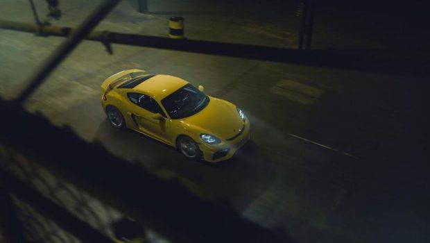 Neuer 718 Cayman GT4 Draufsicht
