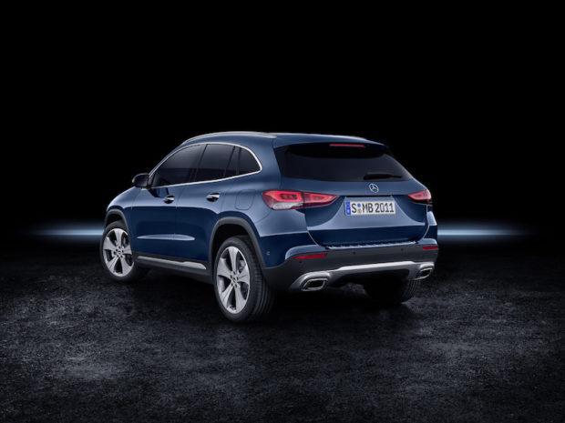 Neuer Mercedes GLA (H 247) Heck galaxyblau