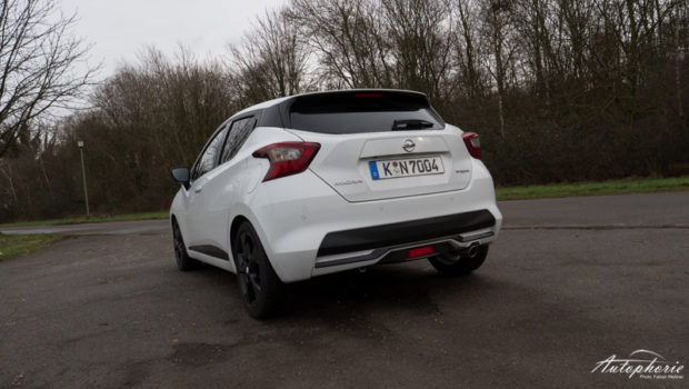Nissan Micra N-Sport weiss Heckansicht