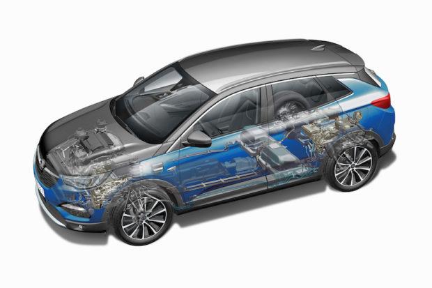 Opel Grandland X Hybrid4 Technik