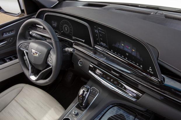2021 Cadillac Escalade gebogenes OLED Panel