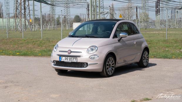 Fiat 500C 1.0 Hybrid Stella Weiß Front
