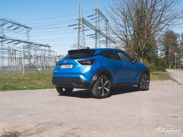 Nissan Juke DIG-T DCT Vivid Blue Heck