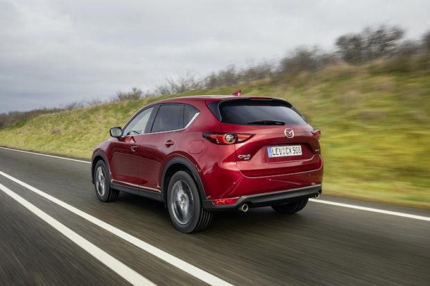 Mazda CX-5 Modelljahr 2021 magmarot heck