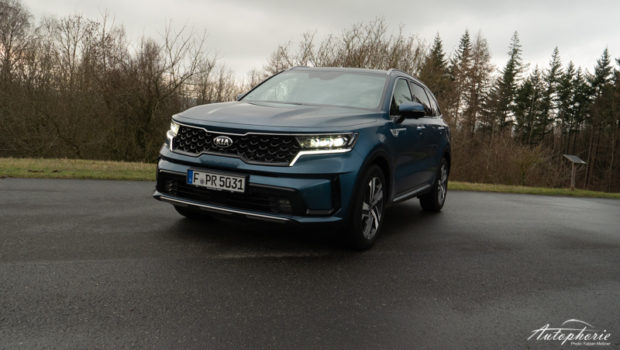 2021 Kia Sorento Hybrid AWD Mineralblau Metallic Front