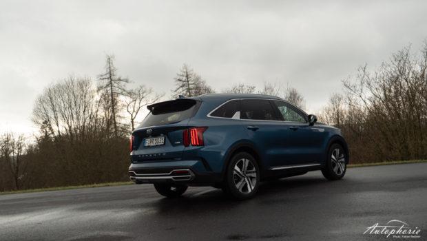 2021 Kia Sorento Hybrid AWD Mineralblau Metallic Heck