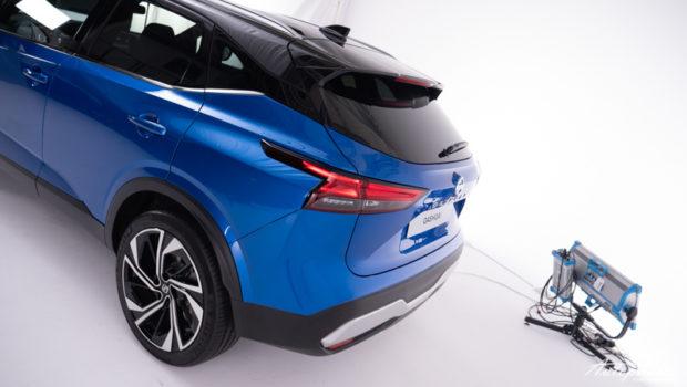 Nissan Qashqai Heck 2021 magnetic blue schwarzes Dach