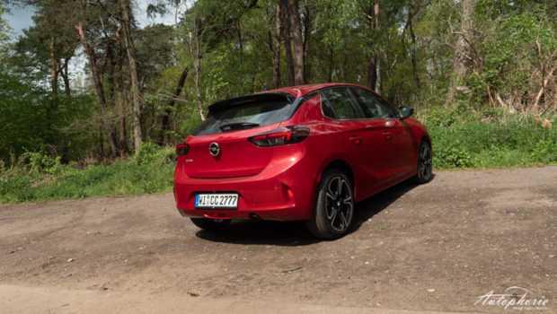 2021 Opel Corsa Elegance Chilli Rot Metallic Heck