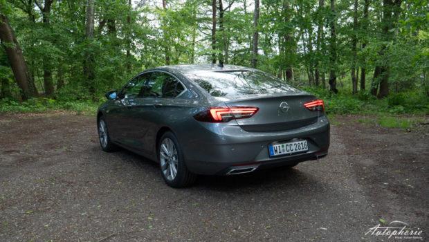 Opel Insignia 2.0 Turbo lichtgrau Heckansicht