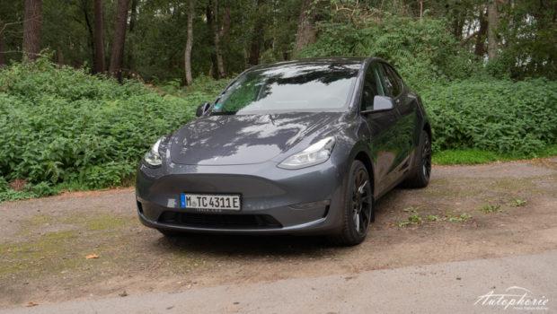 Tesla Model Y Midnight Silver Metallic Modelljahr 2021 Front